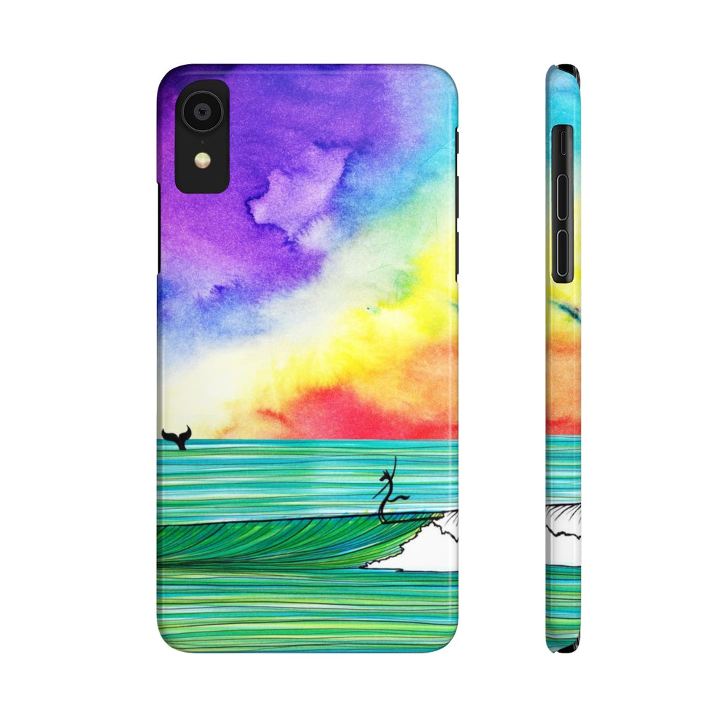 The Wolf And The Whale Slim Phone Case