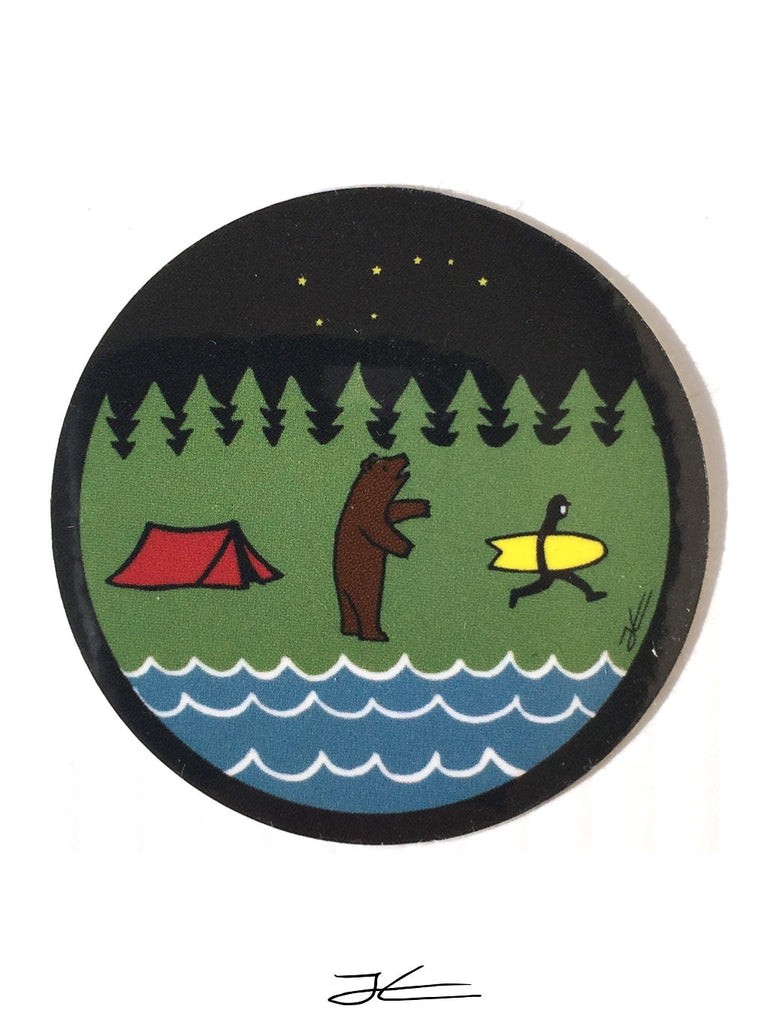Bear Country Sticker (4 Stickers)