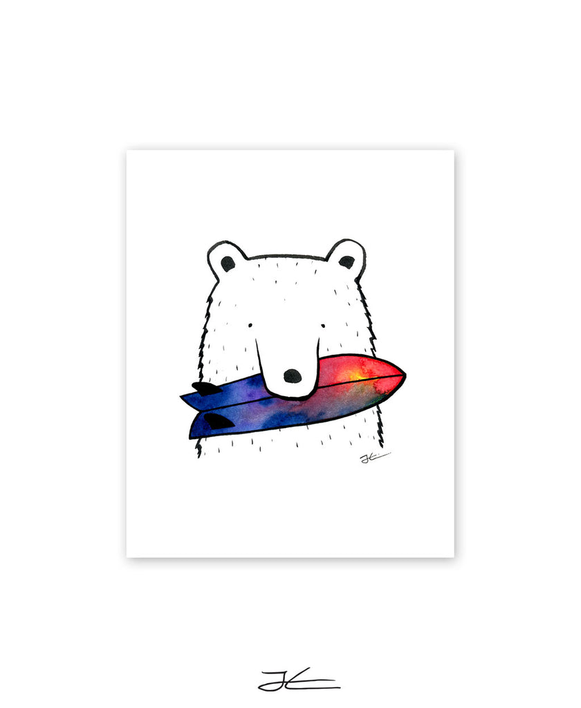 Bear Snack - Print/ Framed Print