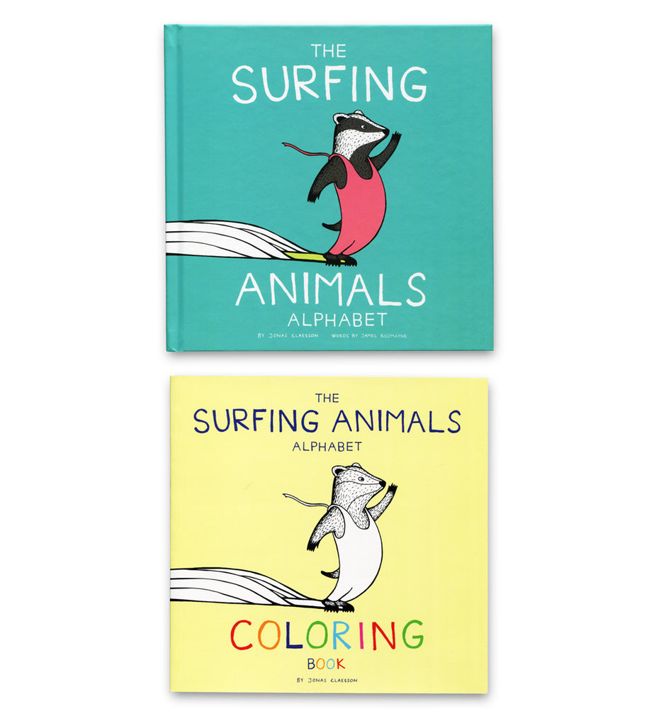 The Surfing Animals Alphabet Bundle ( 2 books )
