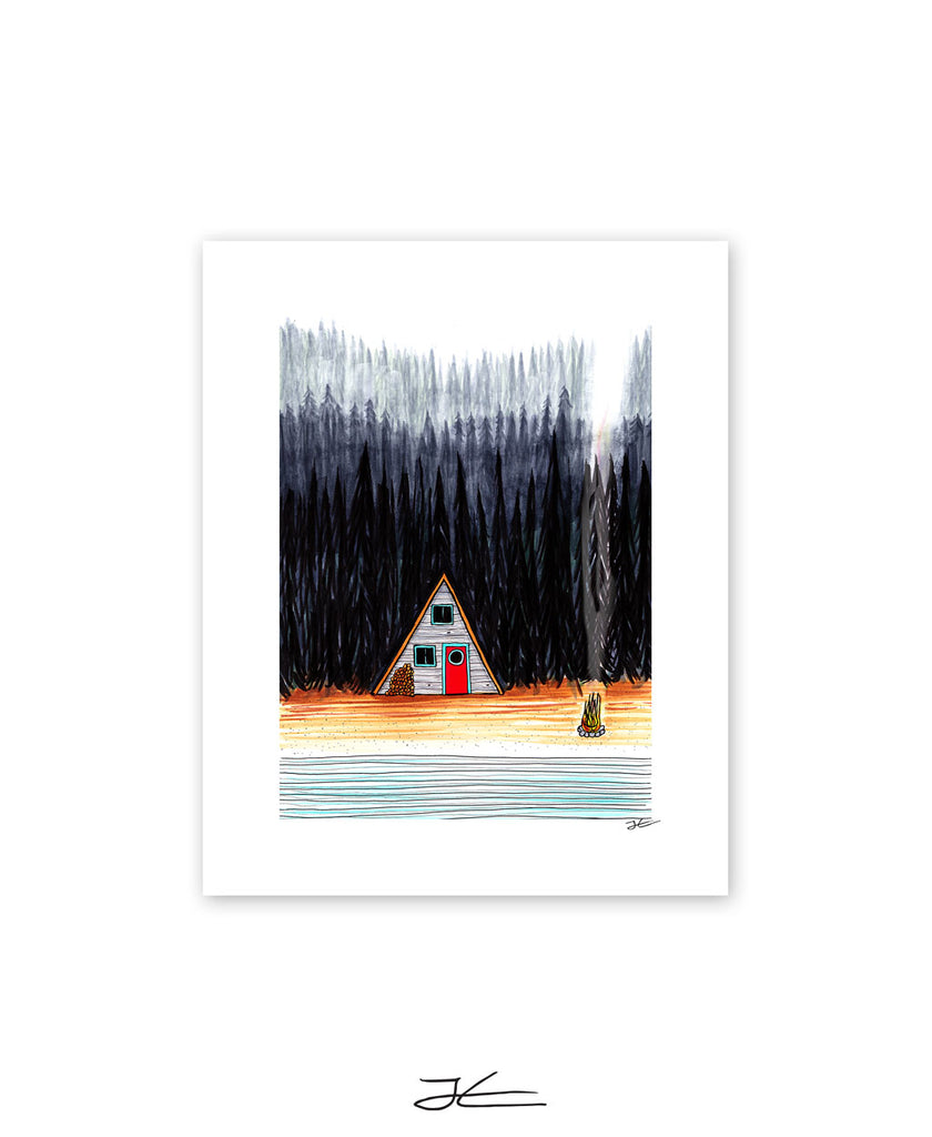 Cabin By The End Of The Road - Print/ Framed Print
