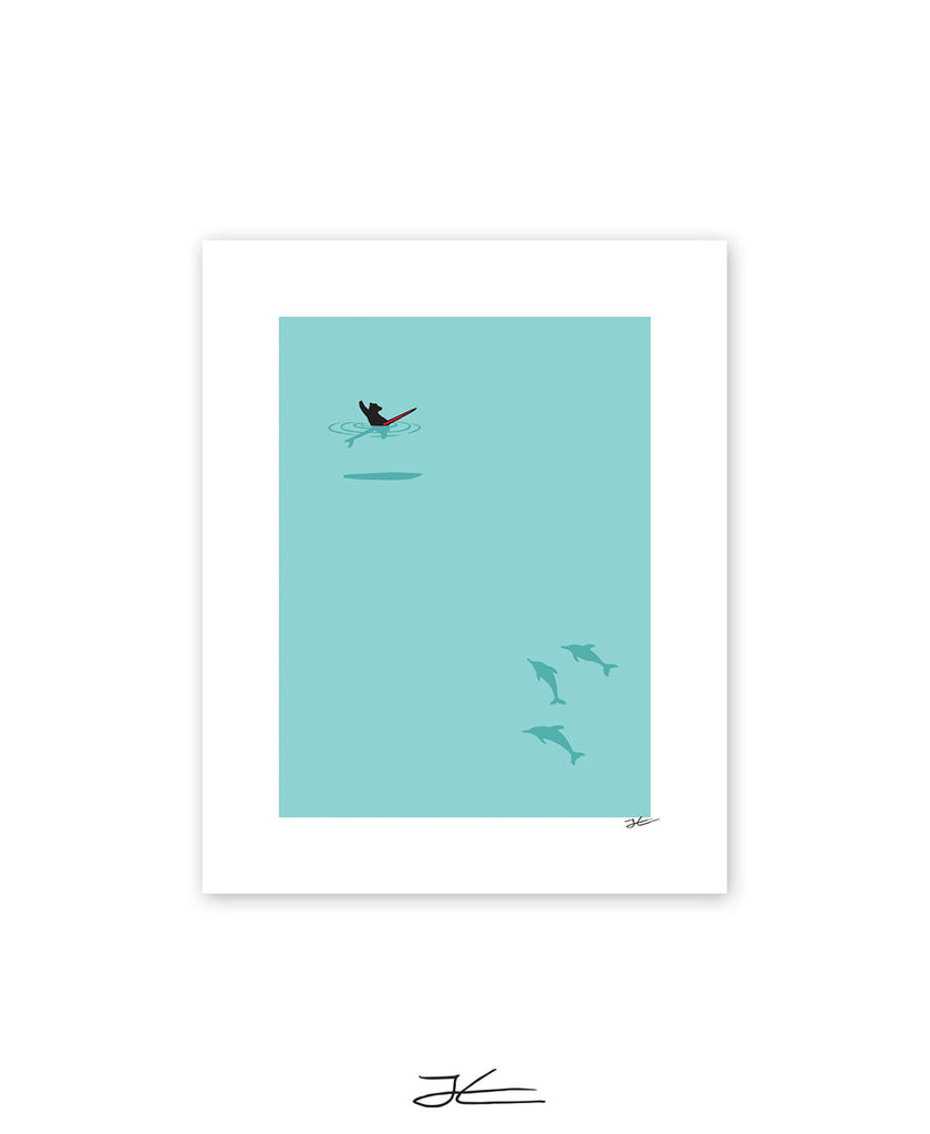 Dolphin and Bear - Print/ Framed Print