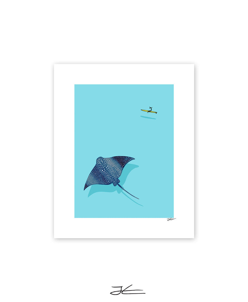 Eagle Ray - Print/ Framed Print