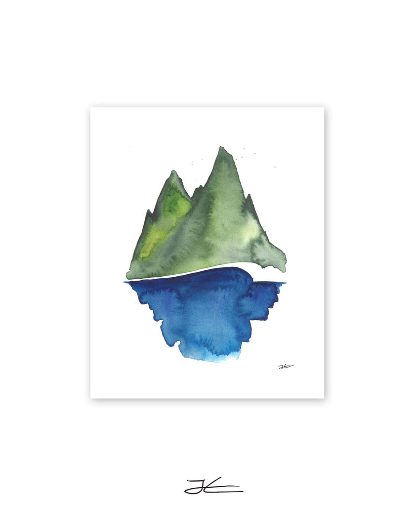 Green - Blue - Print/ Framed Print