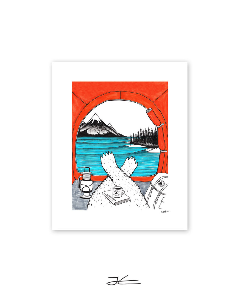 Happy Camper - Print/ Framed Print
