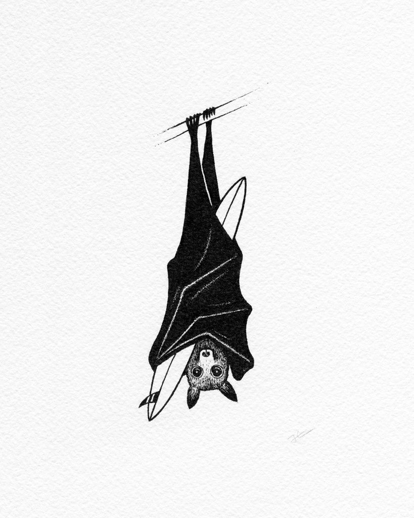 Inktober Bat. Original illustration