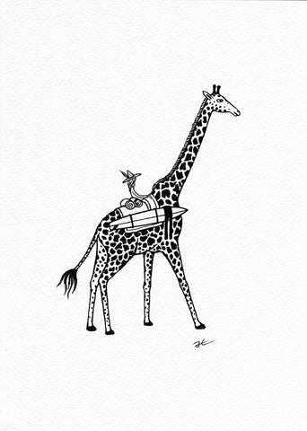 Inktober Giraffe. Original illustration