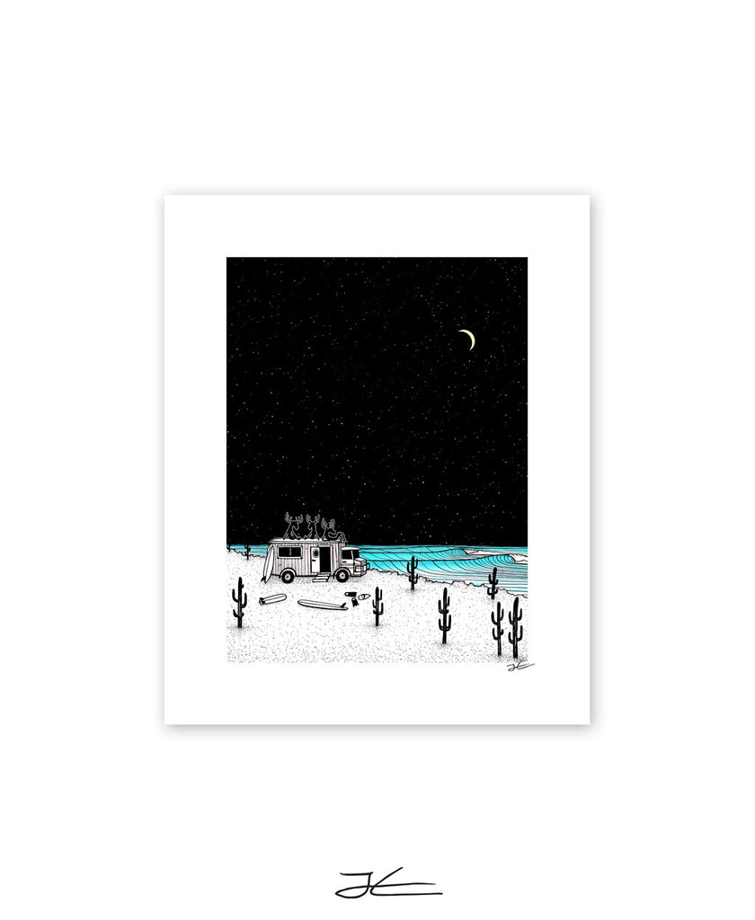Moose Night Out - Print/ Framed Print