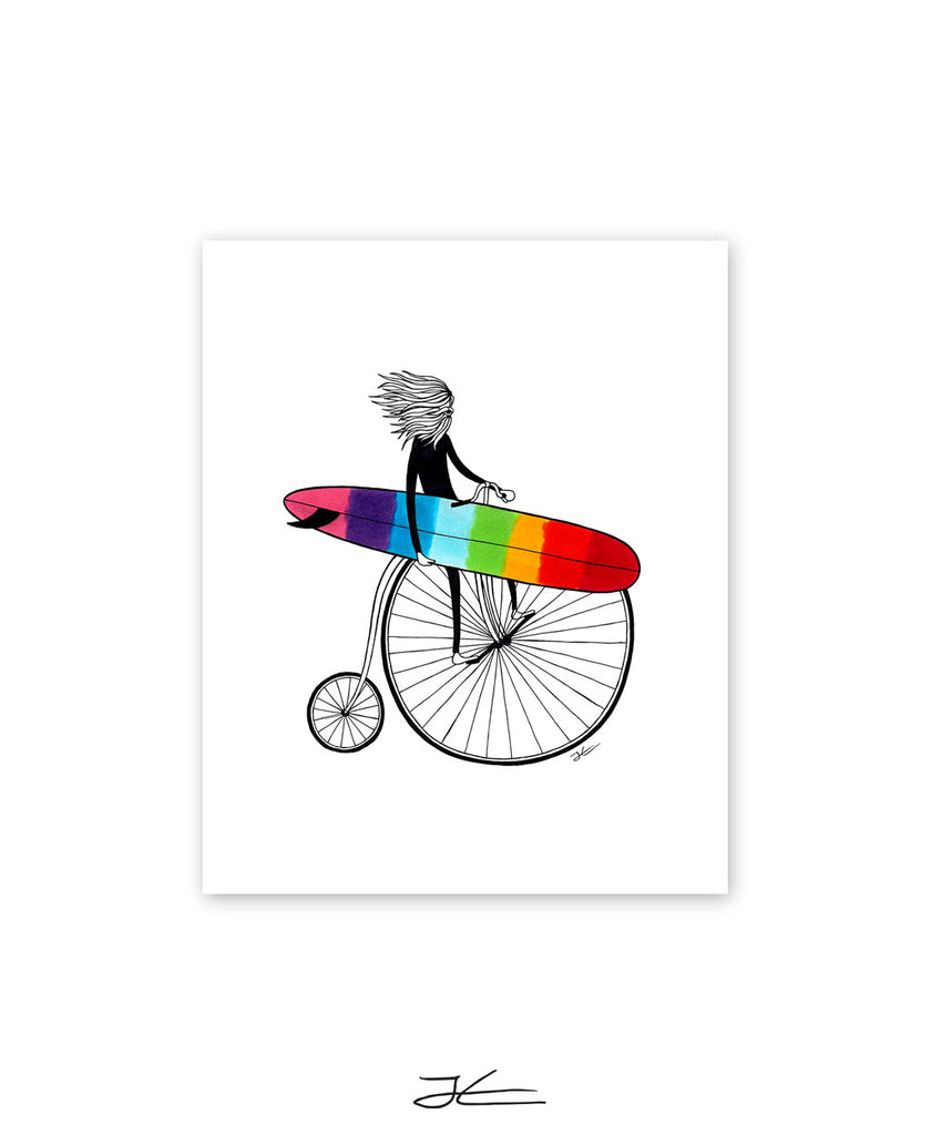 Riding The Rainbow - Print/ Framed Print