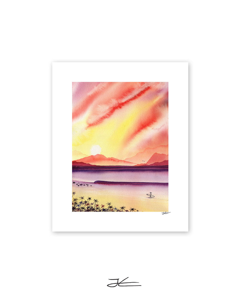 Sunset Surfing - Print/ Framed Print