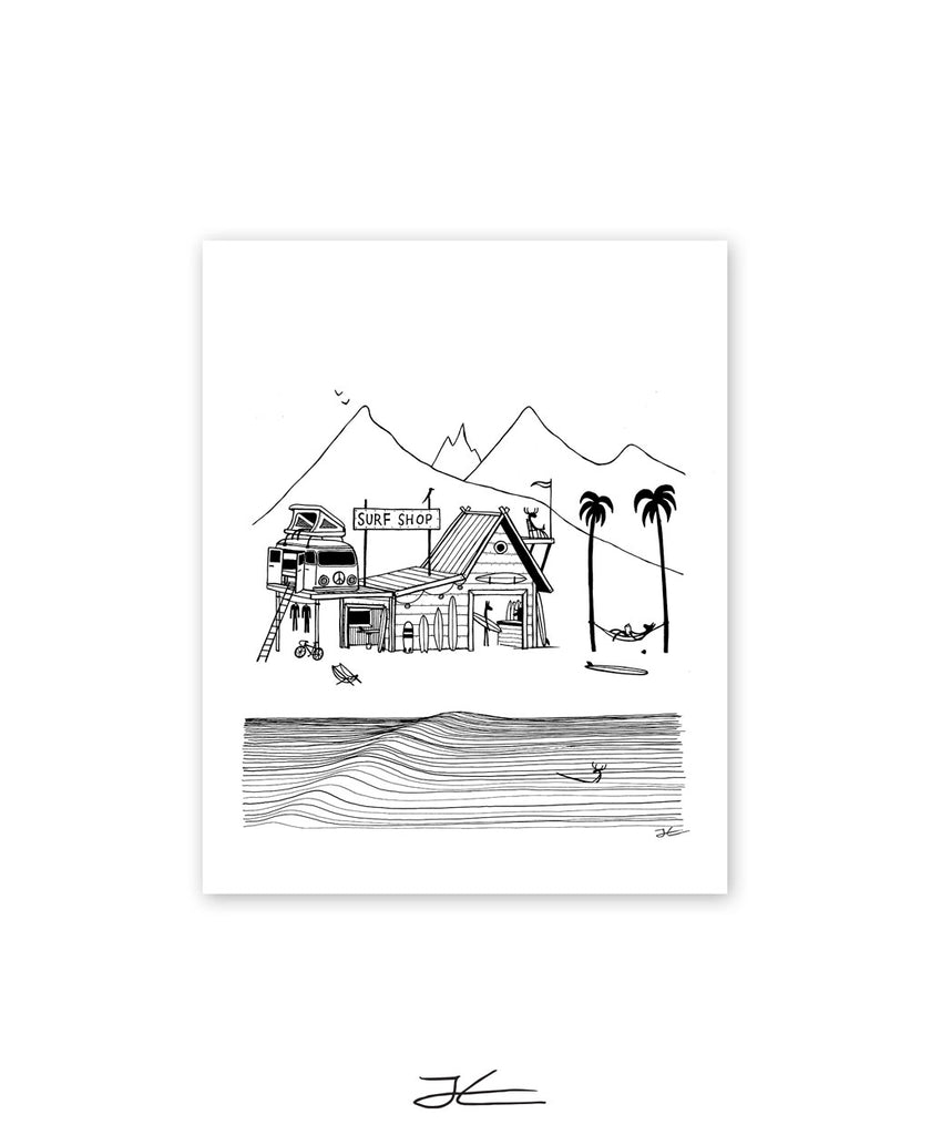 Surf Shop - Print/ Framed Print