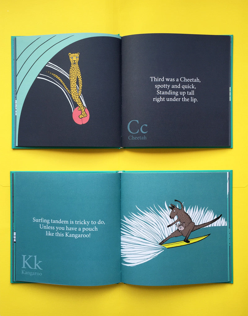 The Surfing Animals Alphabet Book Jonas Claesson Shop