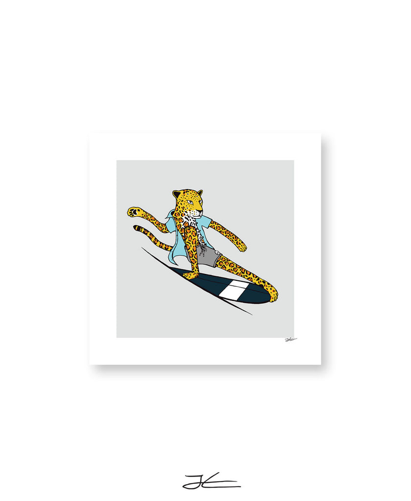 Surfing Jaguar - Print/ Framed Print