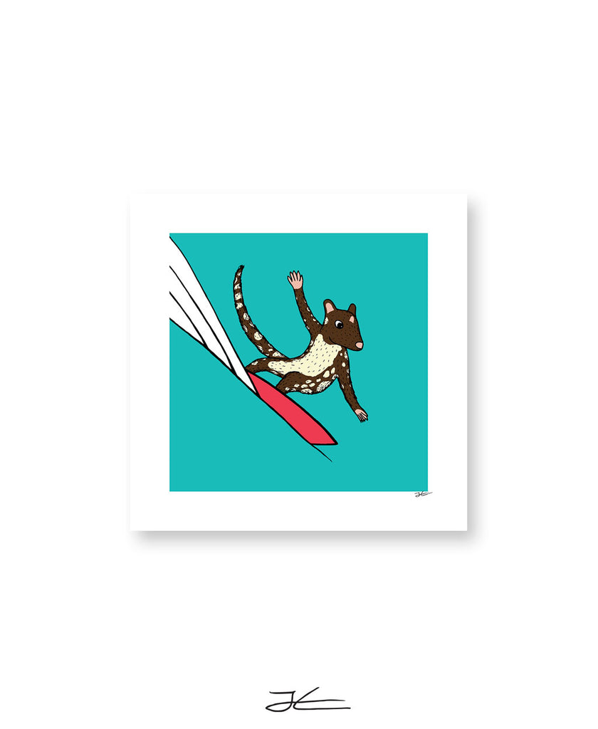 Surfing Quoll - Print/ Framed Print