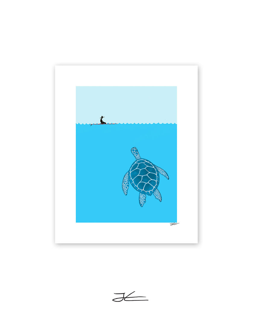 The Blue Turtle - Print/ Framed Print