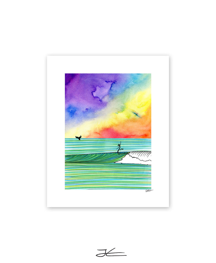 The Wolf and The Whale - Print/ Framed Print