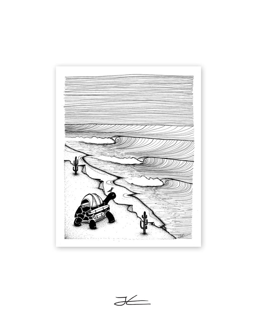 Turtle Tripping - Print/ Framed Print