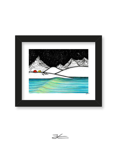 Waiting For Swell Art Print