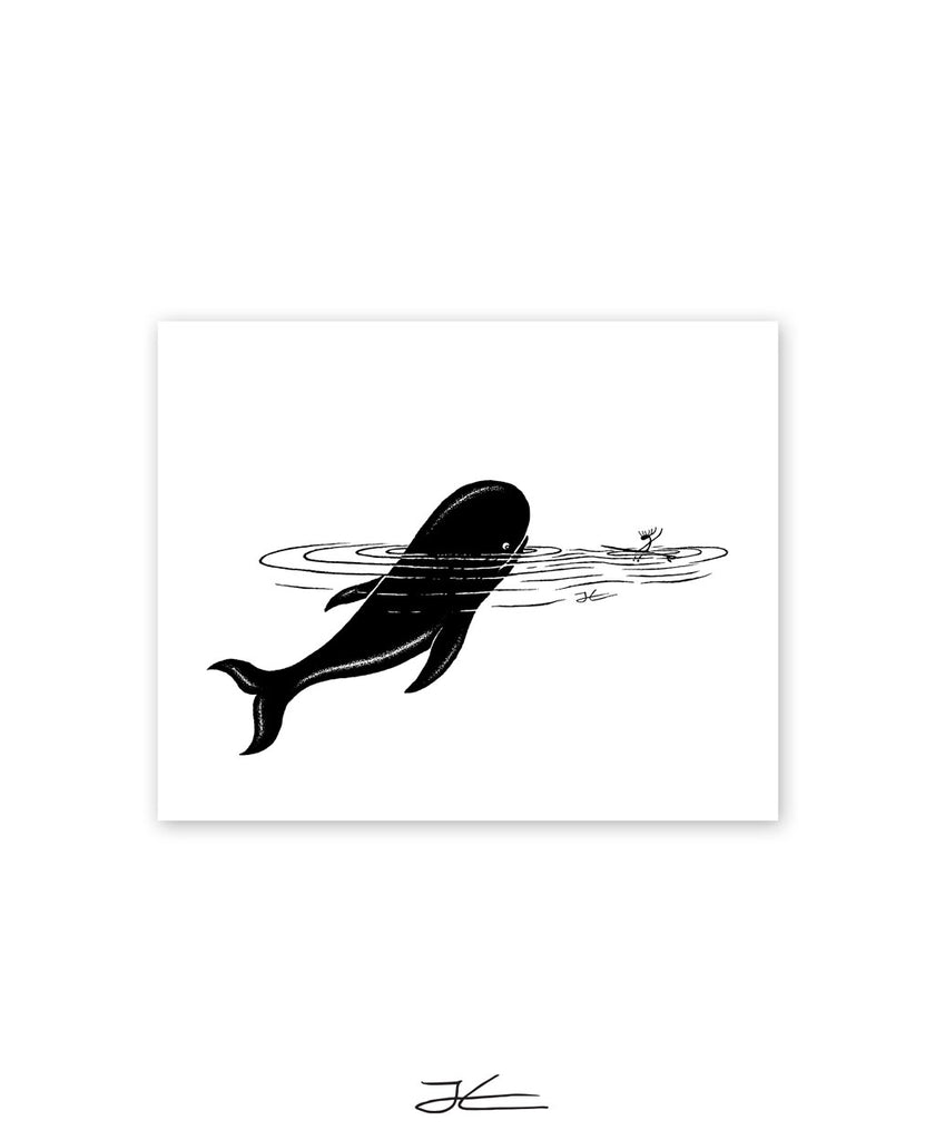 Whale Encounter - Print/ Framed Print