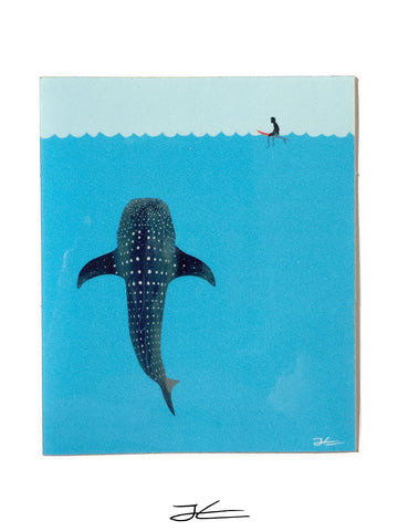 Whale Shark Sticker (4 Stickers)