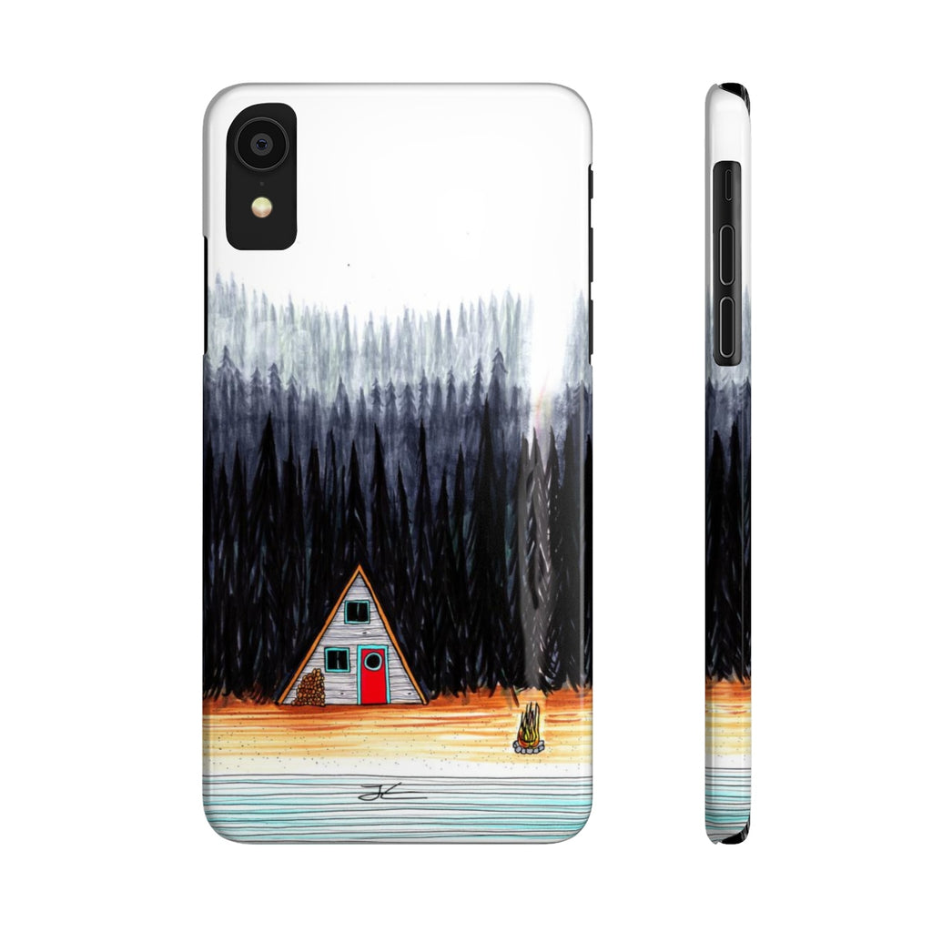 Cabin By The End Of The Road Slim Phone Case