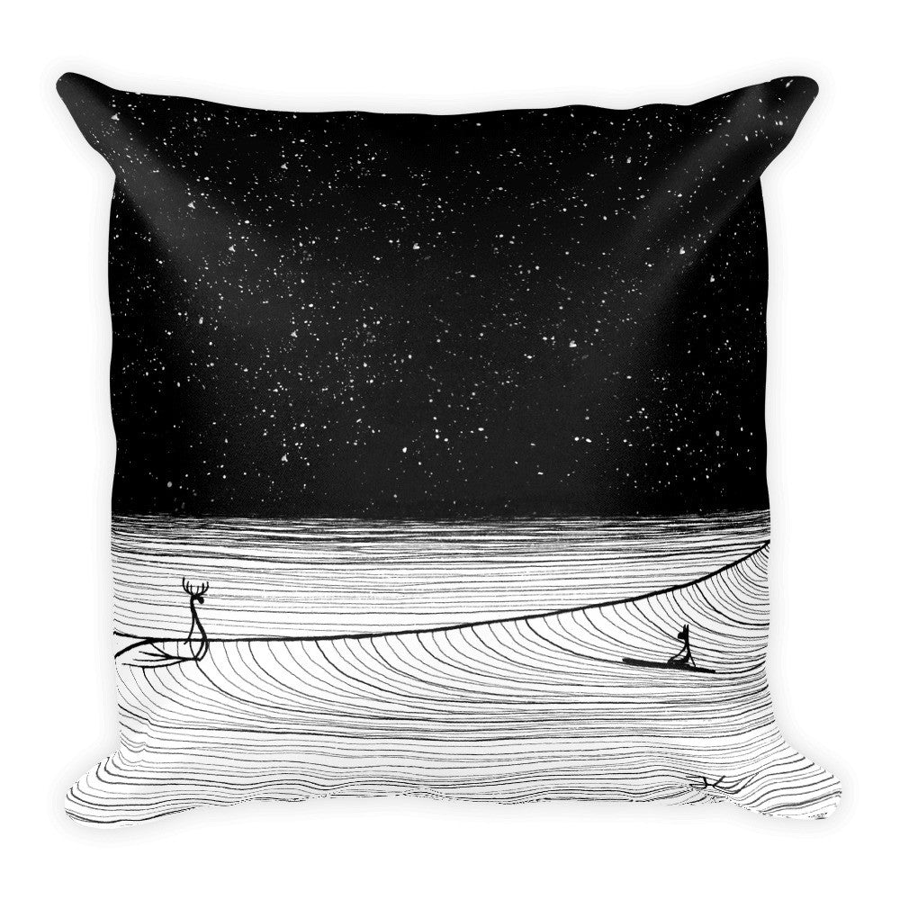 Night Slide Square Pillow