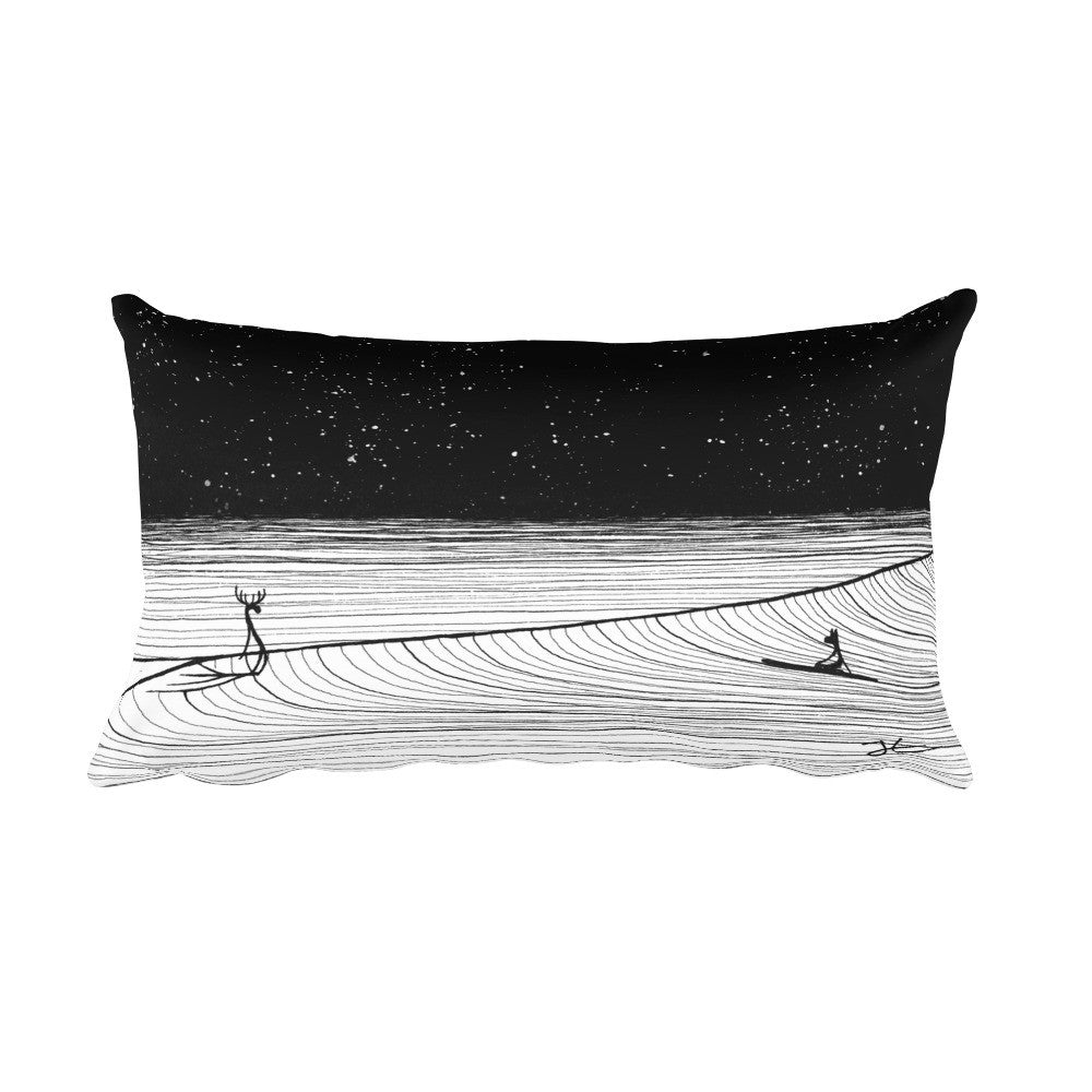 Night Slide Rectangular Pillow