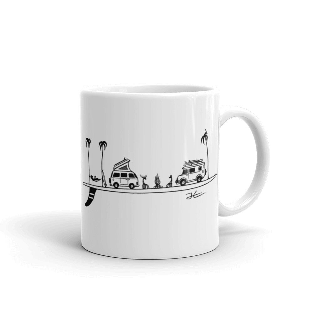 Life on a Single Fin Ceramic Mug