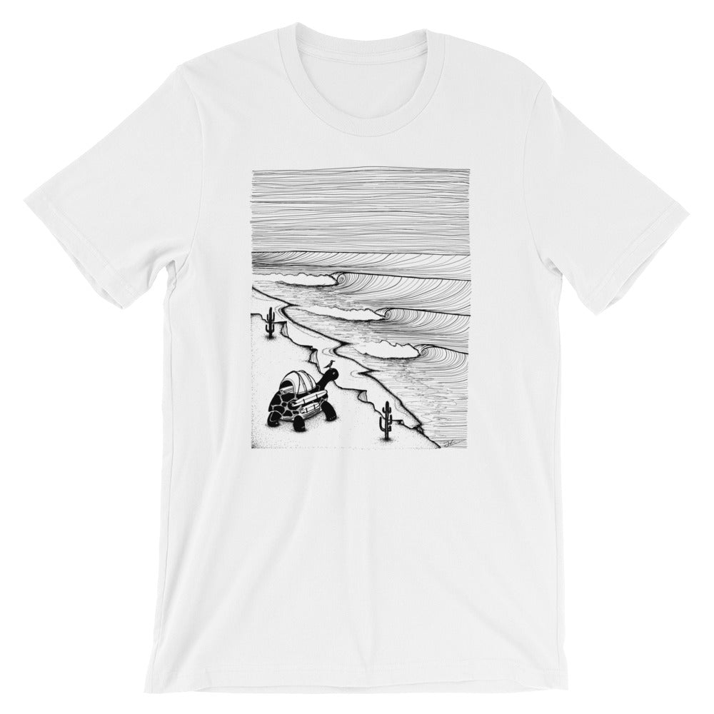 SALE - Turtle Tripping Unisex T-Shirt - White / XS /