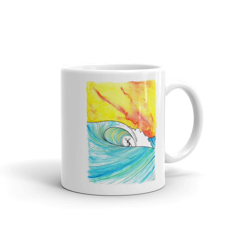 Sunset Slab Ceramic Mug