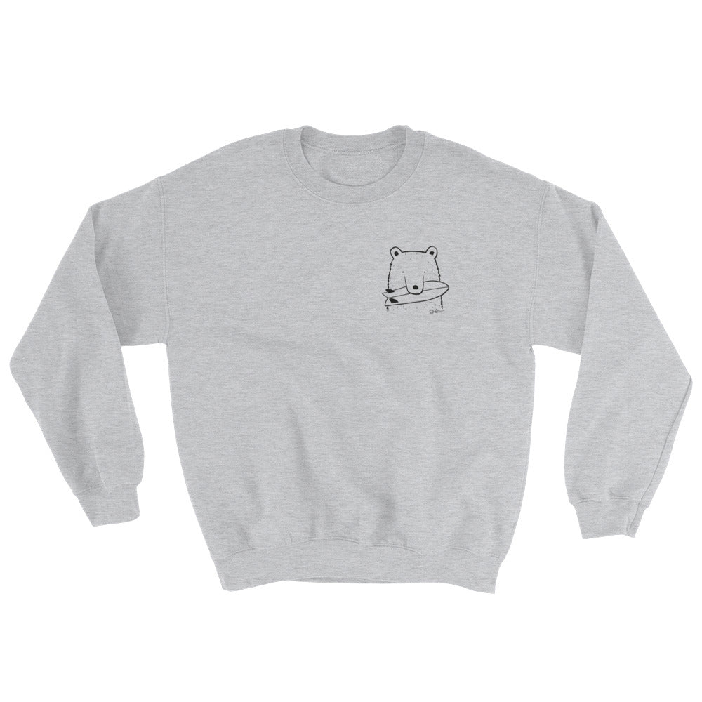 SALE - Bear Snack Sweatshirt - Size Medium / Heather Grey / Unisex