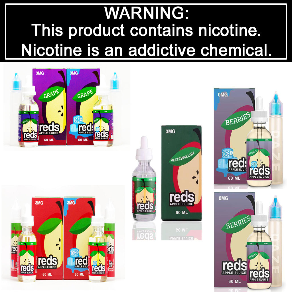 Reds Apple eJuice - Apple, Grape, Watermelon or Berries (60mL)