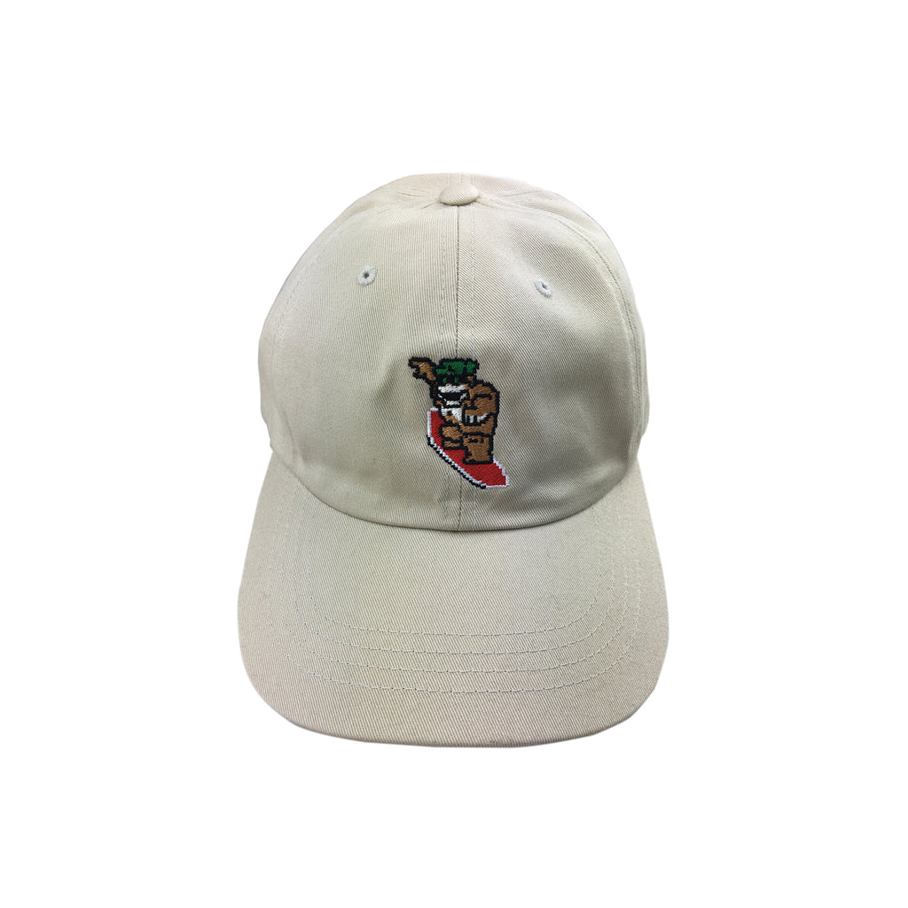 8bit Wood Water Rage Dad Hat (Safari)