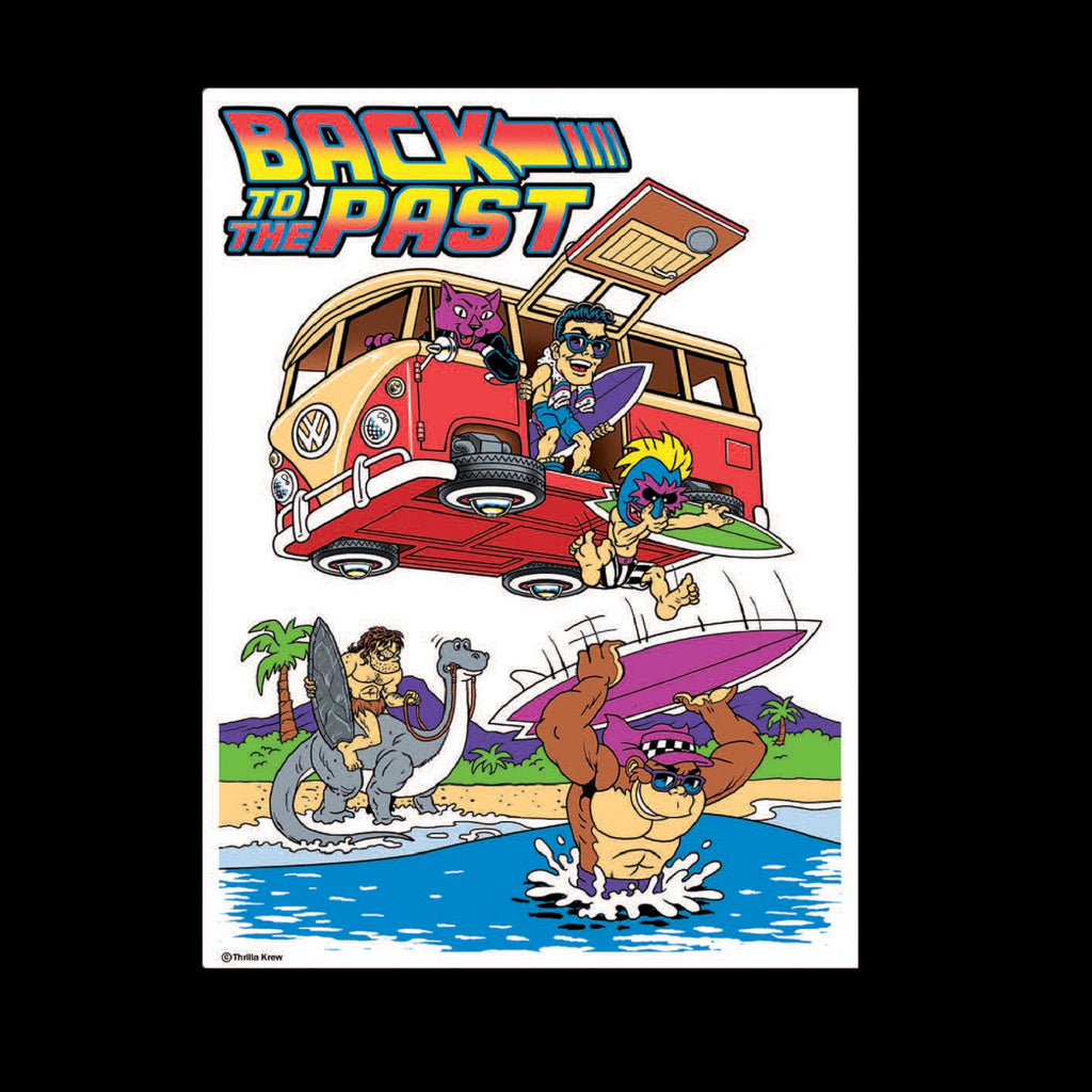 Back to the Past Vinyl Sticker