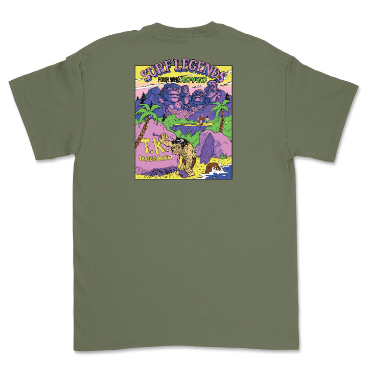 Surf Legends Thrilla Krew Tee (Military Green)