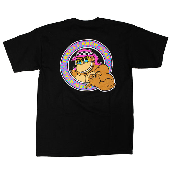 Thrilla Gorilla Checker Shaka Tee (Black)