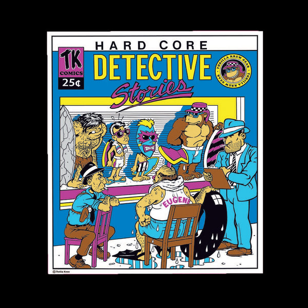 Hardcore Detective Vinyl Sticker