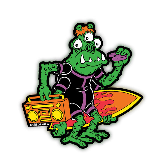 Surf Alien / Mutant Surfer Vinyl Sticker