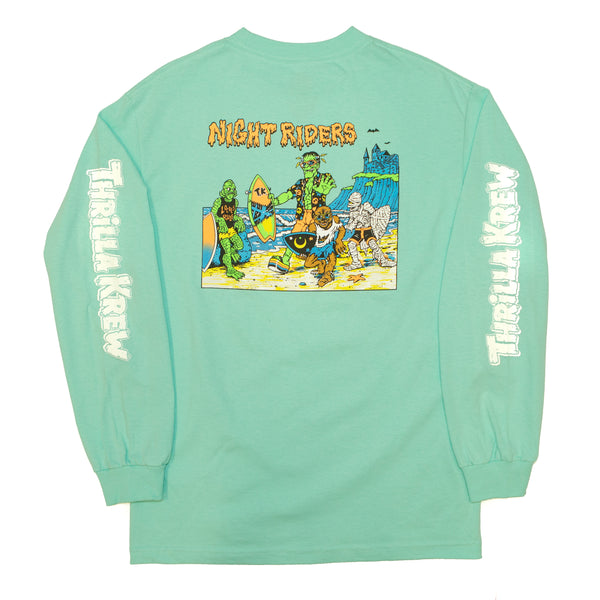Night Riders Monster Long Sleeve - Glow-In-The-Dark (Celadon)