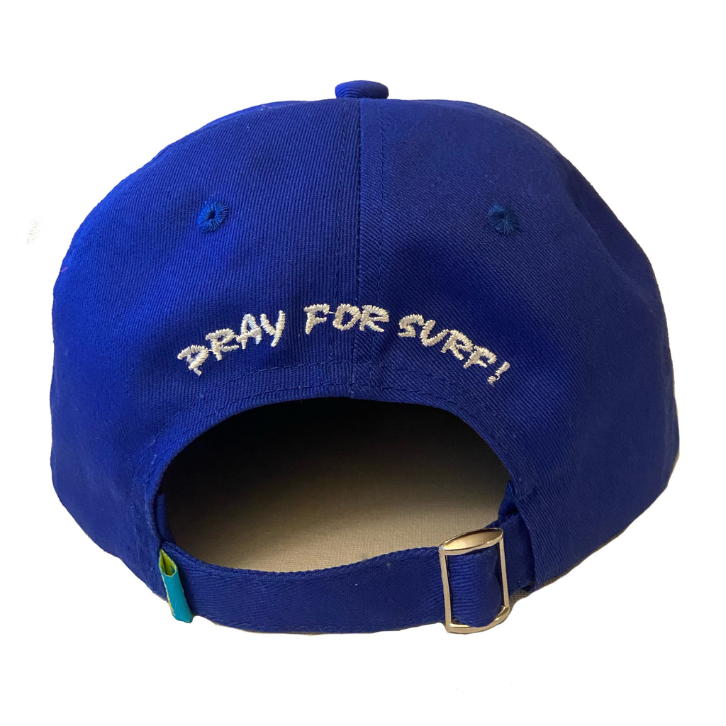 Pray For Surf Strap Back Hat (Royal Blue)