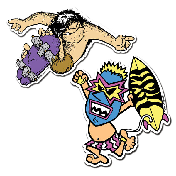 Primal Pete and Wave Warrior #2 Sticker Pack