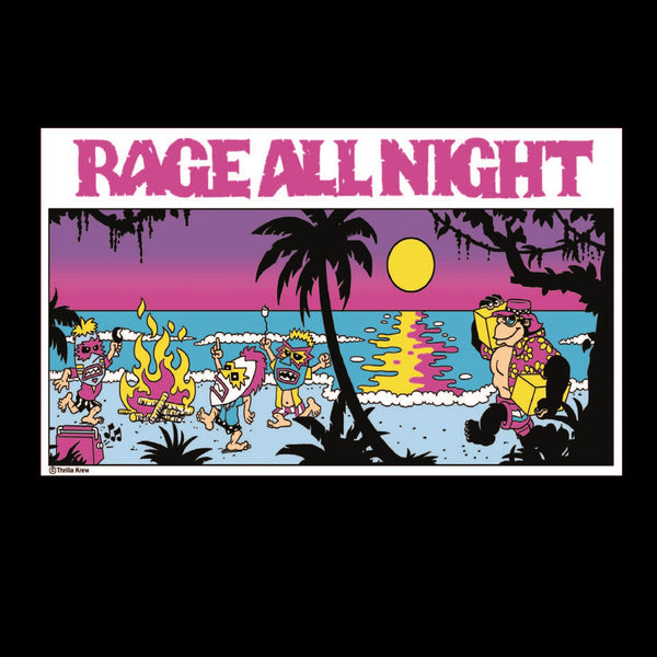Rage All Night Vinyl Sticker