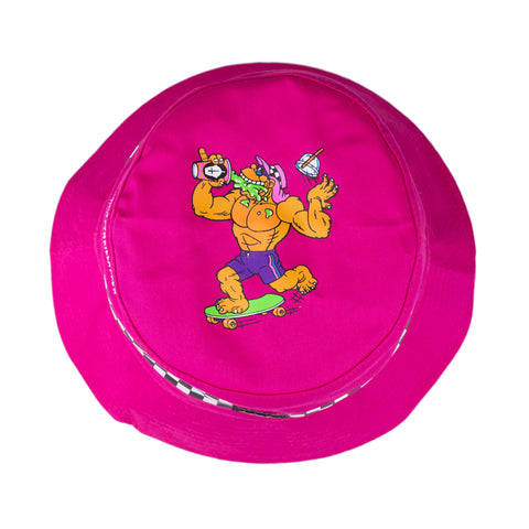 The Big Freeze Slushcult x Thrilla Krew Checkered Bucket Hat (Pink)
