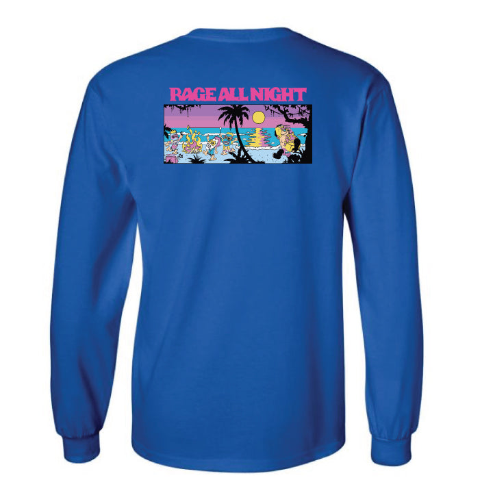 Surf All Day Rage All Night L/S (Royal Blue)