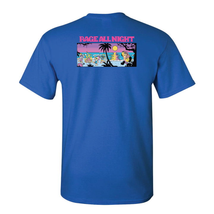Surf All Day Rage All Night Tee (Royal Blue)