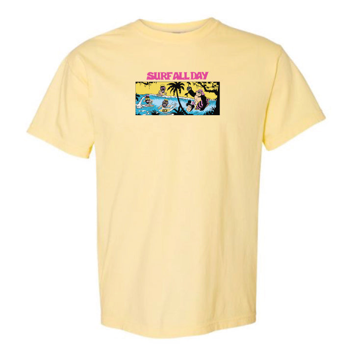 Surf All Day Rage All Night Tee (Banana)