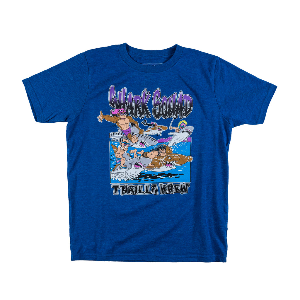 Shark Squad Youth T-Shirt (Blue)