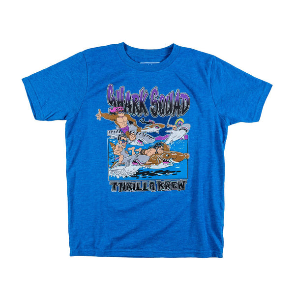 Shark Squad Youth Tee (Turquoise)