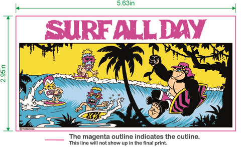 Surf All Day Vinyl Sticker