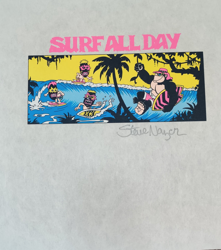 Signed Surf All Day Pellon